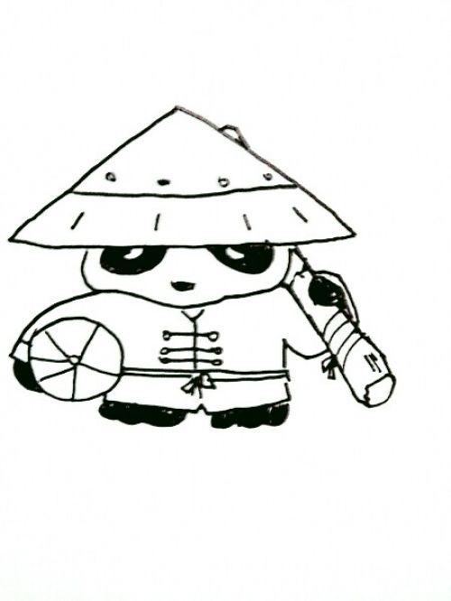 教你画dota英雄第二十弹:熊猫酒仙